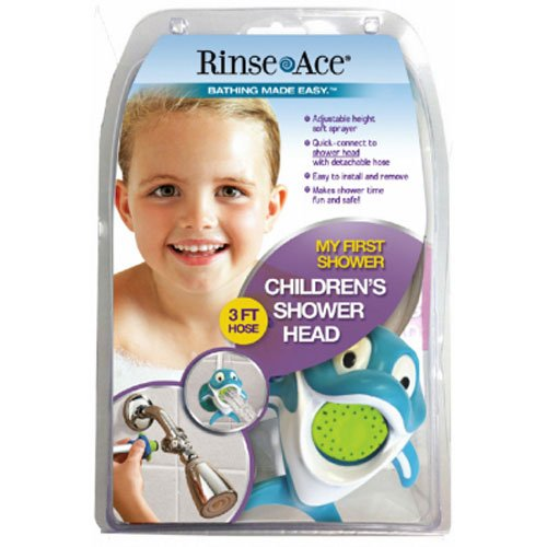 Rinse Ace 3901  My Own Shower Children's Showerhead with 3-Foot Quick-Connect/Detachable Hose and Dolphin Character