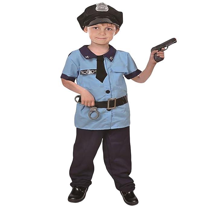 NiSeng Disfraz de policía para niño Carnaval Cosplay Disfraces ...