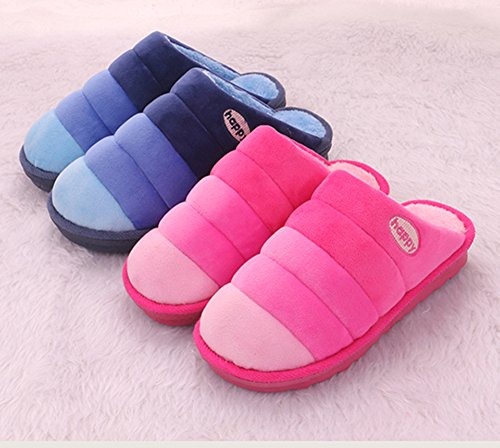 Damen Winter Warme Pantoffeln, Eagsouni® Weiches Plüsch Hausschuhe Rutschfeste Winterschuhe Warme Herbst Winter Slipper Pink