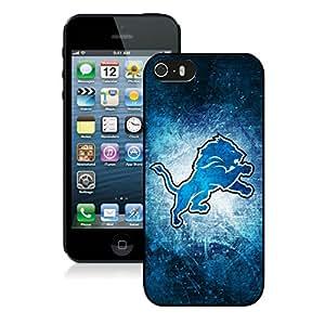 DIY Custom Phone Case For iPhone 5S Detroit Lions 07 Black Phone Case For iPhone 5 5s Cover Case