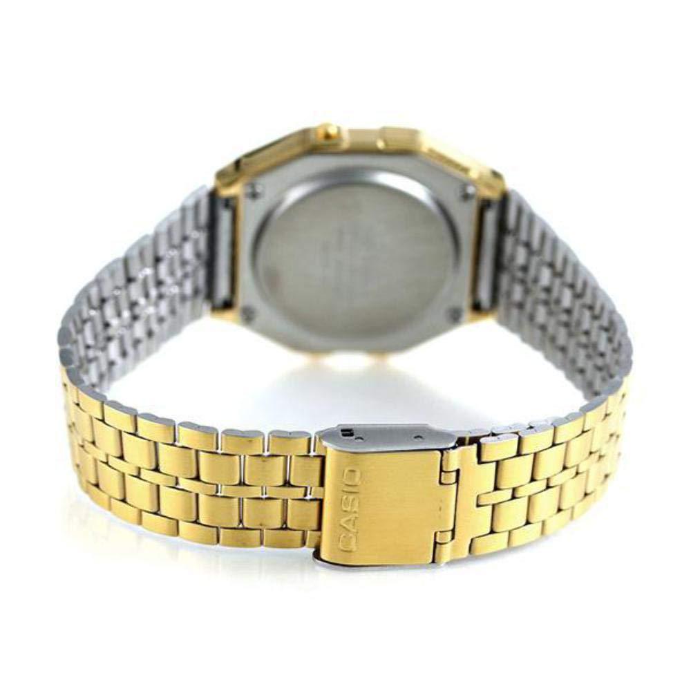 8c4eaa38c58aec Casio Men's Digital Watch with Stainless Steel Bracelet A159WGEA-5EF: Casio:  Amazon.co.uk: Watches