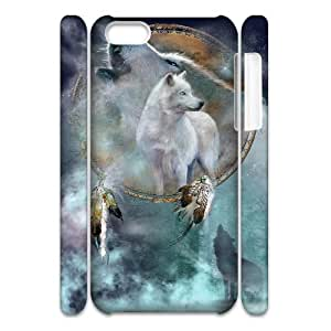 WJHSSB Customized 3D case Wolf Howling for iPhone 5C