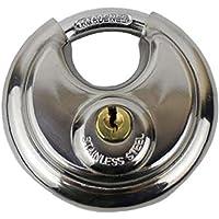 OMMO LEBEINDR Roestvrij staal Discus hangslot waterdicht rond slot voor maximale veiligheid outdoor zware schijf slot