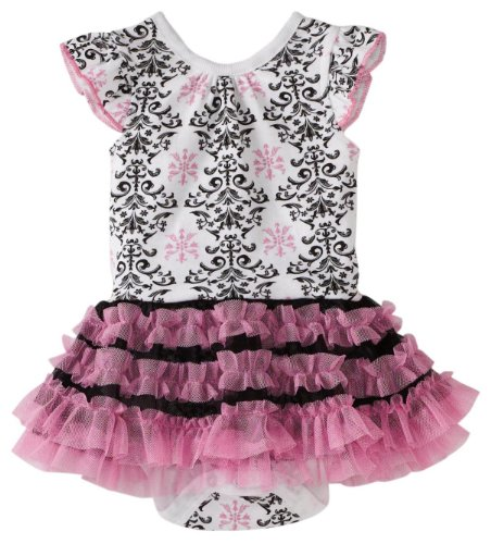 Vitamins Baby Baby Girls' Damask Print Creeper Set
