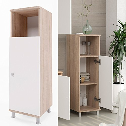 Animalmarketonline Mobile armadio bagno Rovere Sonoma 95 x 30 cm