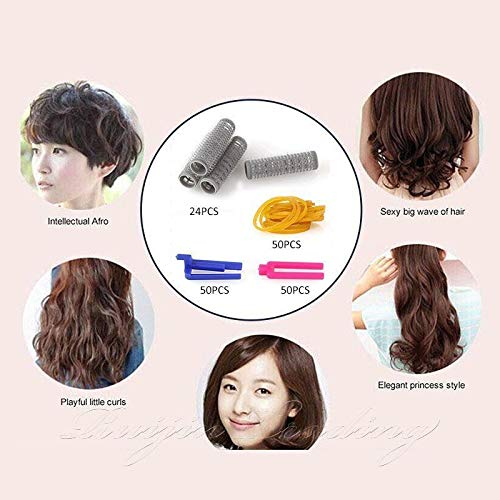 Beauty Hair Styling Hair Roots Perming Plastic Hair Clips DIY Curler Rollers Kit from Bazzano