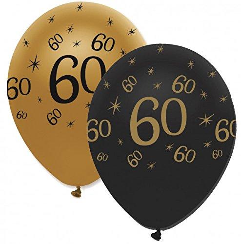 party deko Fiesta Decoración 50 Globos 60 cumpleaños Black ...
