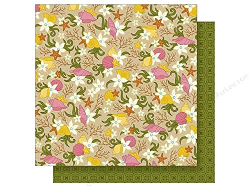 Parrrty Me Hearty Tropical Floral 12x12 Scrapbook Paper by Imaginisce - 5 Sheets