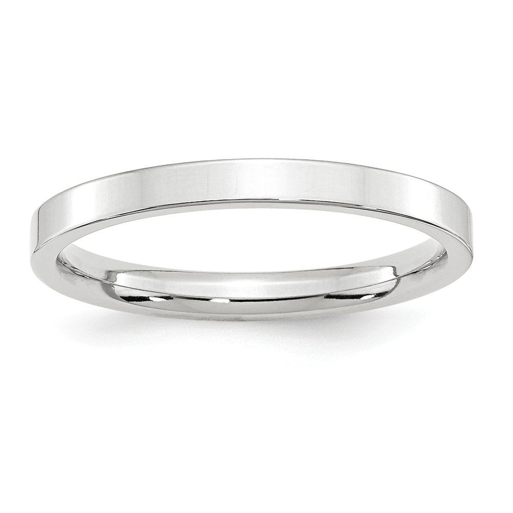 10KW 2.5mm Standard Flat Comfort Fit Band Size 12.5 by JewelrySuperMart Collection
