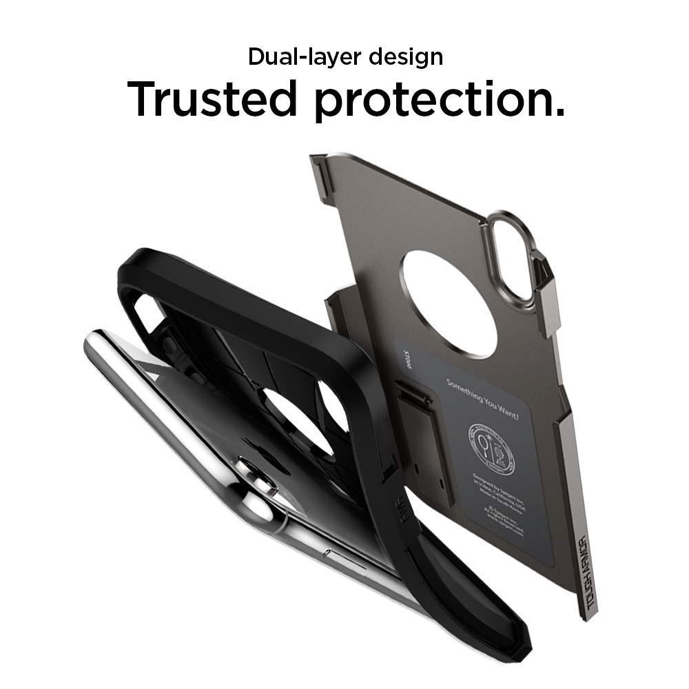 Spigen Tough Armor Designed For Apple Iphone Xr Case Anti Shock With Card Slot Slim Cs Casing Black 2018 Gunmetal Cell Phones Accessories