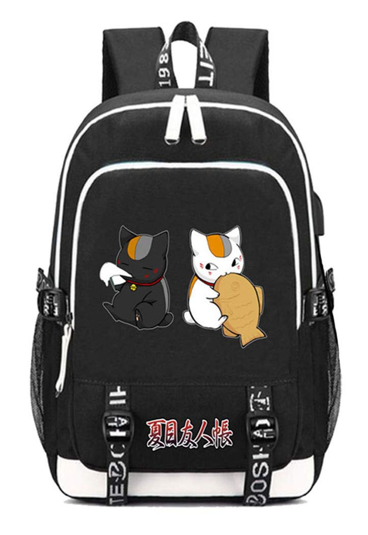 Natsume Yuujinchou  2 Cosstars Natsume Yuujinchou Anime Rucksack Schoolbag Laptop Backpack with USB Charging Port and Headphone Jack  6