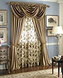 Hilton Window Curtain & Waterfall Fringed Valance Treatments Available In Many C