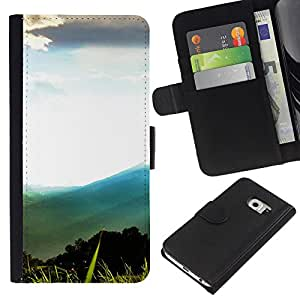Stuss Case / Funda Carcasa PU de Cuero - Montaña Forrest Paisaje - Samsung Galaxy S6 EDGE