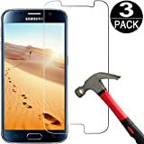 [3 Pack] Samsung Galaxy S6 Screen Protector Tempered Glass [9H Hardness][Ultra Clear][Anti Scratch][Bubble Free] Premium Tempered Glass Screen Protector for Samsung Galaxy S6