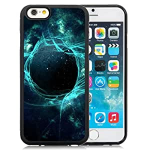 Beautiful Designed Antiskid Cover Case For iPhone 6 4.7 Inch TPU Phone Case With Abstract Space Light Explosion_Black Phone Case