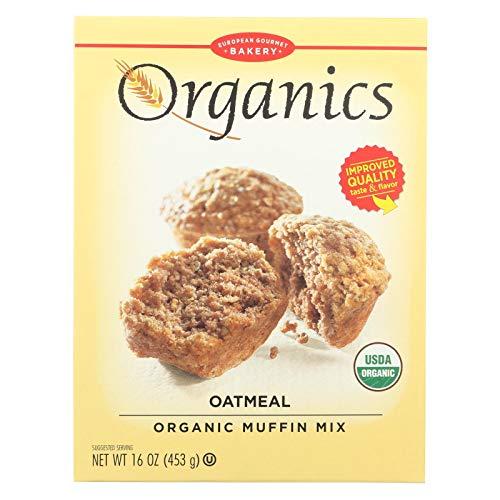Organic Muffins - European Gourmet Bakery, Mix Muffin Oatmeal Organic, 16 Ounce