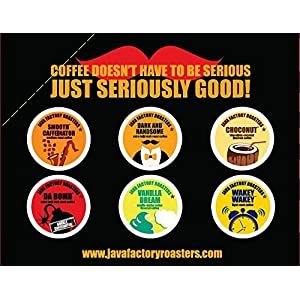 Java Factory Single Cup Coffee for Keurig K Cup Brewers