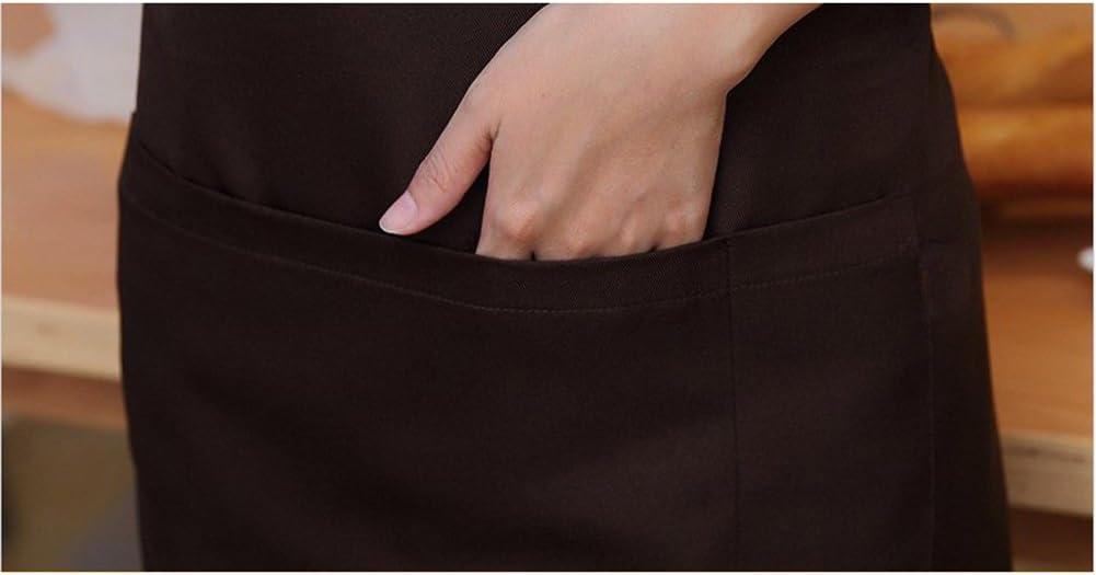 unisex Wasserfeste Sch/ürze mit Taschen f/ür Erwachsene unterschiedliche Farben gr/ün