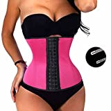 TAILONG Waist Trainer Sport Cincher Slimming Corset Workout Hourglass Fat Burner (S, Rose Red)