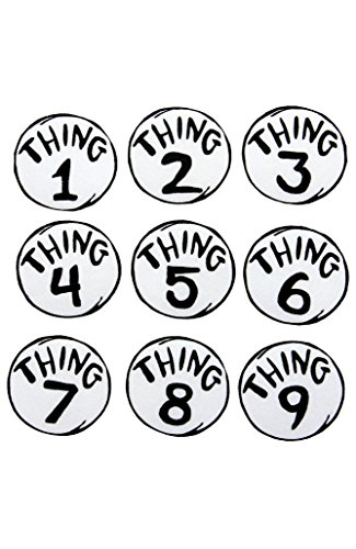 elope Dr. Seuss Thing 1-9 Printed Patches Set -
