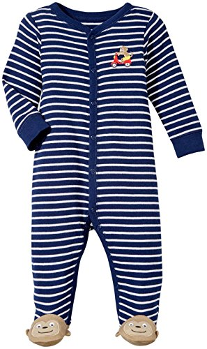 Carter's Baby Boys Footie 115g074, Monkey, Newborn