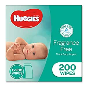 HUGGIES Fragrance Free Baby Wipes, 200 Wipes Refill Pack