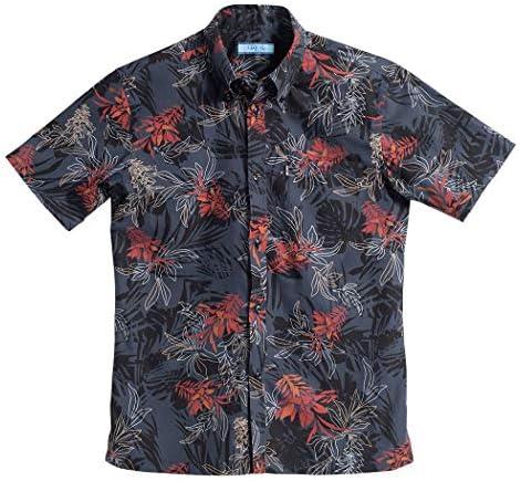 [MAJUN (マジュン)] 国産シャツ かりゆしウェア アロハシャツ 結婚式 メンズ 半袖シャツ ボタンダウン デイゴフラッター