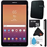 Samsung 8.0'' Galaxy Tab A 8.0 32GB Tablet (Wi-Fi Only, Black) SM-T380NZKEXAR + Universal Stylus for Tablets + Tablet Neoprene Sleeve 10.1'' Case (Black) + 32GB Class 10 Micro SD Memory Card Bundle