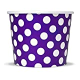 #7: Purple Paper Ice Cream Cups - 12 oz Polka Dotty Dessert Bowls - Perfect For Your Yummy Foods! Many Colors & Sizes - Frozen Dessert Supplies - Fast Shipping! 1,000 Count