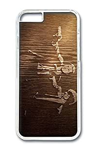Custom Design Covers for iPhone 6 PC Transparent Case - Wood Engraving