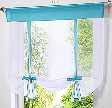 Amazon.com: Taka Co Bay Window Curtains Window Tulle Yarn Kitchen ...