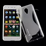 Tarkan Royal S Line Slim Soft TPU Bumper Back Case Cover For Micromax Canvas Spark Q380 [Clearance SALE@99]
