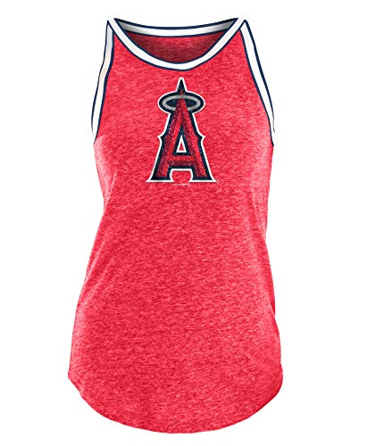 New Era Los Angeles Angels Women's MLB Curveball Tri-Blend Tank Top