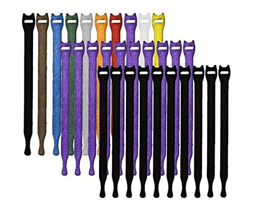 Rip-Tie Lite 1/2x8'' Light-Duty Strap, 10/Pack, Rainbow by Rip Tie