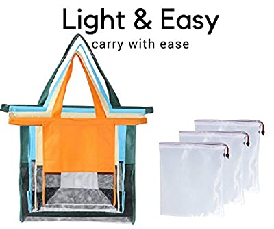Shopping Cart Trolley Bags - 4 Reusable Grocery Bags