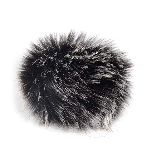 5 Pack Lapel Microphone Windscreen, Morfone Mini Size Lavalier Mic Furry Windscreen Muff/Micromuff - Black
