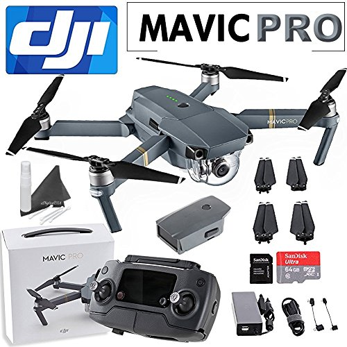 DJI Mavic Pro Collapsible Quadcopter: Includes SanDisk 64GB...