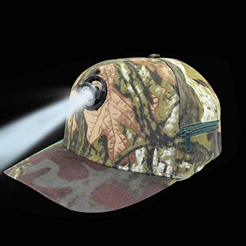 NACHEN LED Lighted Cap for Men Baseball Cap Hat Glow Party Cap LED Flashlight Caps,Camouflage
