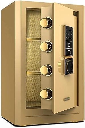 Convencionales Cajas Fuertes Caja Fuerte electrónica for el hogar con Medio Huella Digital Contraseña Segura Oficina Caja de Seguridad antirrobo de Acero Cajas Fuertes: Amazon.es: Hogar