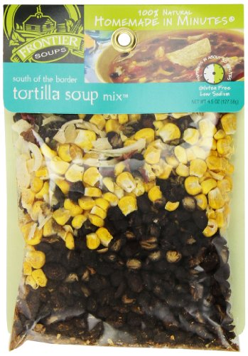 Frontier Soups Homemade In Minutes Soup Mix, South of The Border Tortilla, 4.5 Ounce - Organic Tortilla Soup