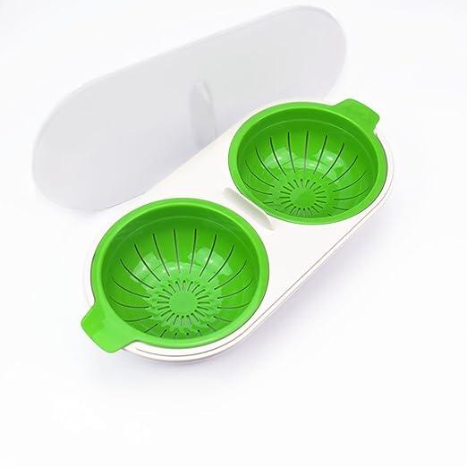 tuzech escalfador de huevos para, 2 tazas tazas de silicona huevo ...