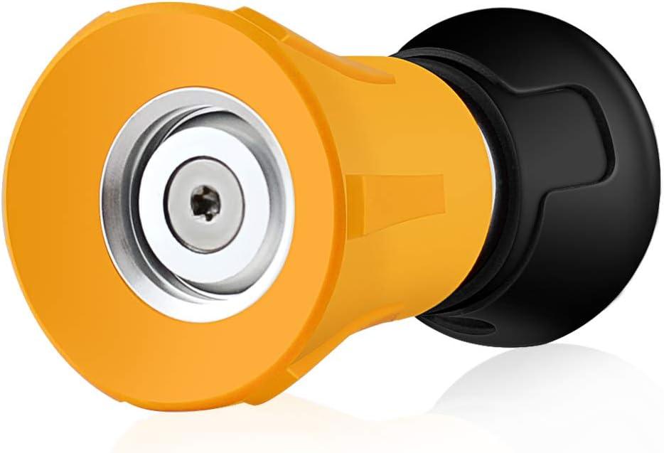 Fireman Hose Nozzle,Garden Hose Nozzle,Metal Adjustable Spray Nozzle for Car Wash, Patio Cleaning, Watering Lawn and Garden