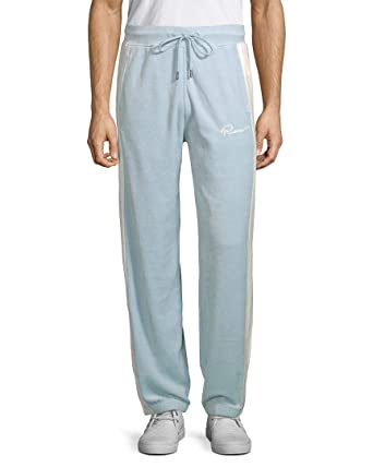 c2be62ec0e09 PUMA Men s Puma x Fenty by Rihanna Velour Track Pants Sterling Blue Small  31.5