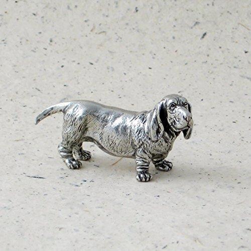 Danforth - Basset Hound Pewter Dog (Basset Figurine)