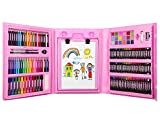 Zooawa 176 Pcs Art Set, Sketching and Drawing Handle Art Box with Oil Pastels, Crayons, Colored Pencils, Markers, Paint Brush, Watercolor Cakes, Sketchpad for Kids and Toddlers - Colorful
