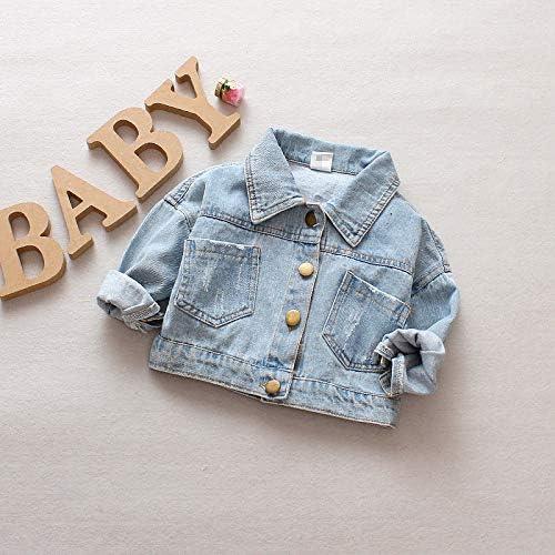Zooart Baby Girls Denim Jacket Cute Cartoon Dog Toddler Outerwear Coats Children
