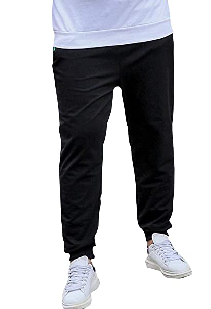 73f61555ec Sweatwater Mens Big and Tall Sweatpants Elastic Waist Jogging Sport Pants  Black XS