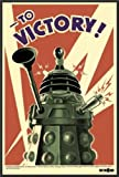 Doctor Who Dalek To Victory 24x36 Wood Framed Poster Art Print
