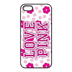 Customiz Love Pink Back Cover Case for iphone 5 5S JN5S-2503