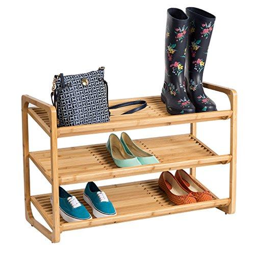 Honey-Can-Do SHO-01599 Bamboo 3-Tier Shoe Shelf ()